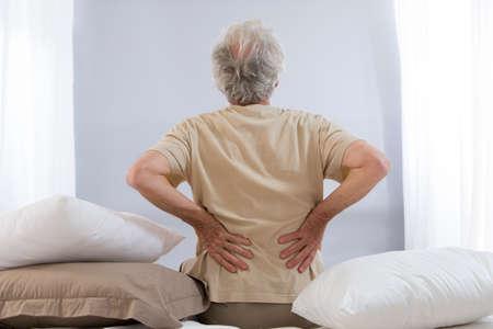 Photo for back ache senior man - Royalty Free Image