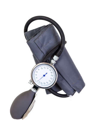 Foto de Manual blood pressure sphygmomanometer isolated on white background - Imagen libre de derechos