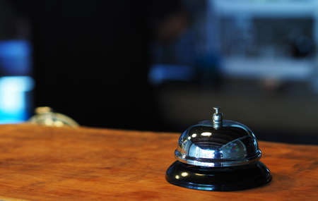 Photo pour Elegant Ring Bell in the coffee shop - image libre de droit