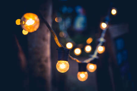 Photo for Decorative backyard lighting - Royalty Free Image