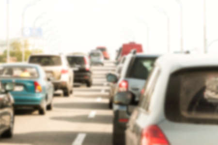Photo pour blurred traffic jam can be used as background - image libre de droit