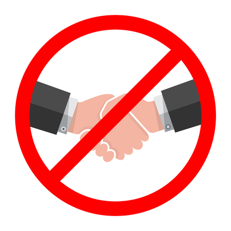 Illustration for No Handshake icon. Vector illustration. No dealing. No collaboration - Royalty Free Image