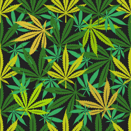 Illustration for Cannabis marijuana seamless pattern. - Royalty Free Image