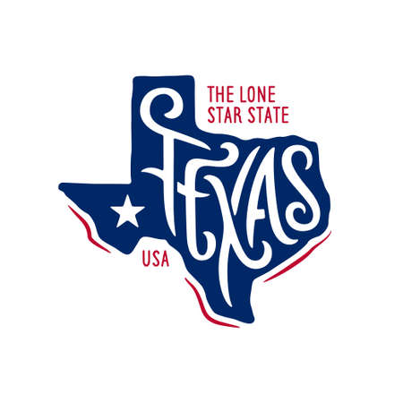 Foto de Texas related t-shirt design. The lone star state. - Imagen libre de derechos