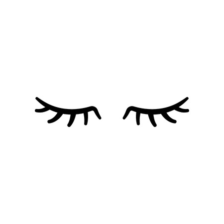 Illustration for Vector eyelashes. Closed eyes. Vector icon Cute design - Royalty Free Image