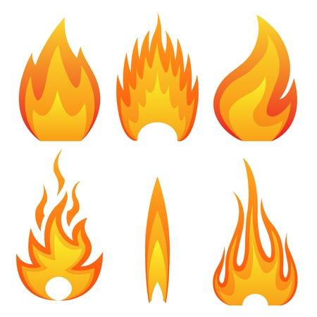 Illustration pour Illustration of flame fire - image libre de droit