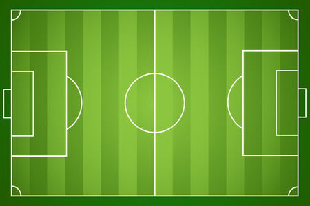 Illustration pour Illustration of a football field.  - image libre de droit