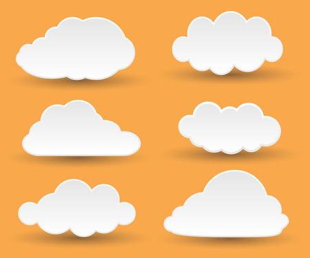 Illustration pour Messages in the form of white clouds. - image libre de droit