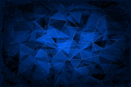 Photo pour Abstract Polygonal on dark Background, Geometric Illustration. - image libre de droit