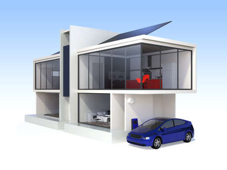 Foto per Stylish apartment with solar panel systems - Immagine Royalty Free