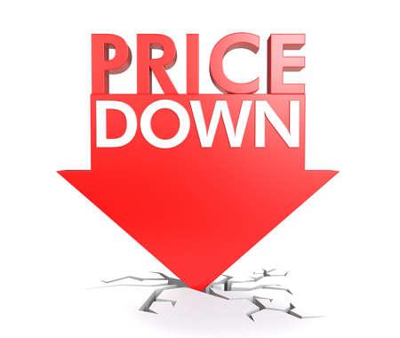 Foto de Price down concept - Imagen libre de derechos