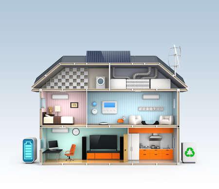 Photo pour Energy efficient Home concept with copy space - image libre de droit