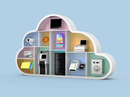 Foto de Fintech technology concept. 3D rendering image. - Imagen libre de derechos