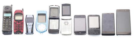 Foto de Old and new Mobile phones, smartphone - Imagen libre de derechos