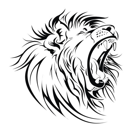 Lion roar head vector
