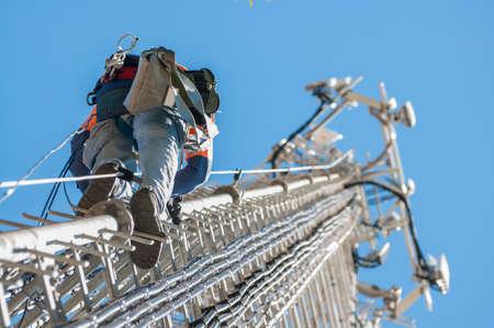 Photo pour Tower climber - image libre de droit