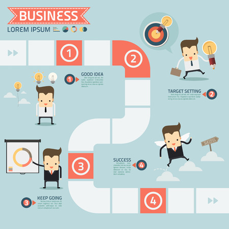 Illustration pour step for success business concept vector - image libre de droit