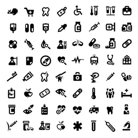 Big Medical And Health Icons Set Created For Mobile, Web And Applications