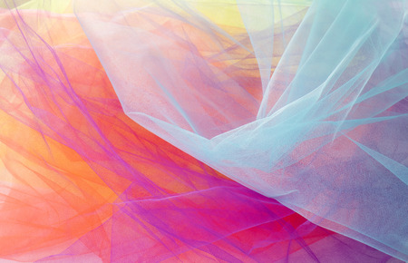 Photo pour Colorful Abstract Tulle Background and Textures - image libre de droit