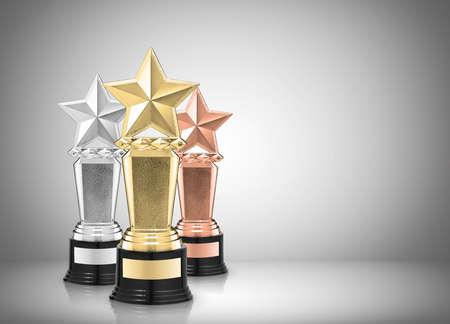 Photo pour star awards on gray background - image libre de droit