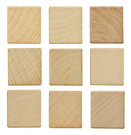 Photo pour Blank wood scrabble pieces isolated on white background - image libre de droit