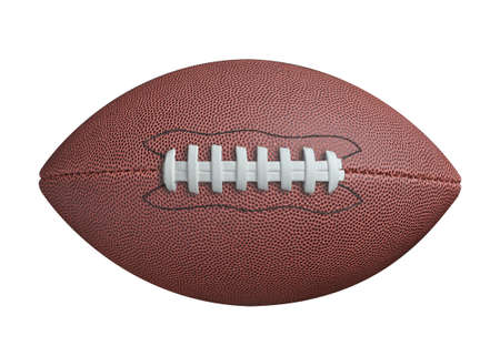 Photo pour American football isolated on white background - image libre de droit