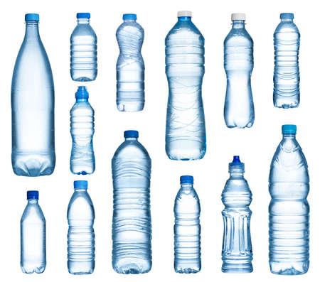 Photo pour Plastic water bottles set isolated on white background - image libre de droit