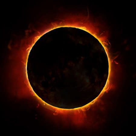 Photo pour sun eclipse on the black background - image libre de droit