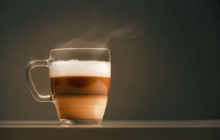 Foto für cup of coffee on dark background - Lizenzfreies Bild