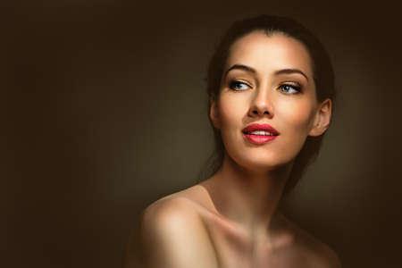 Foto de beauty woman on the dark background - Imagen libre de derechos