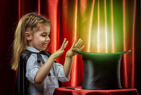 Photo for the little magician does tricks - Royalty Free Image