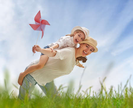 Photo pour happy mother and child together - image libre de droit