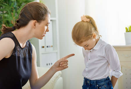 Photo for mother scolds her child - Royalty Free Image