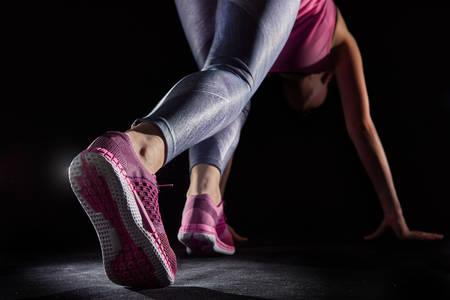 Foto de athletes foot close-up. healthy lifestyle and sport concepts. - Imagen libre de derechos