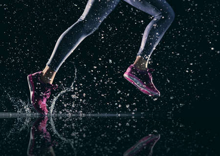 Photo for athletes foot close-up. healthy lifestyle and sport concepts. - Royalty Free Image