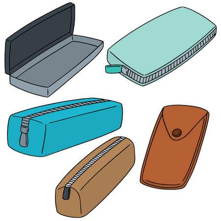 Illustrazione per vector set of pencil case - Immagini Royalty Free