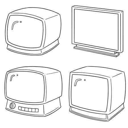 Illustration for vector set of television - Royalty Free Image