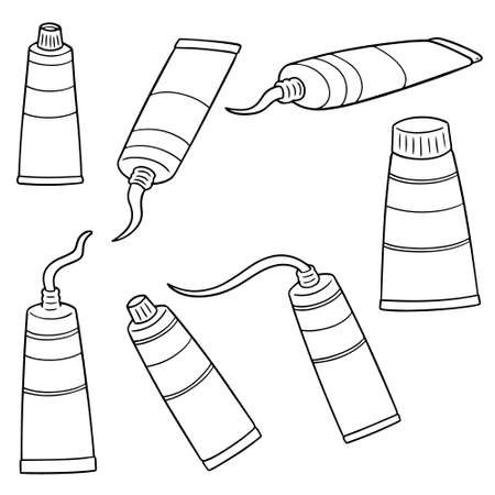 Illustration pour vector set of color tube - image libre de droit