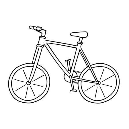 Illustration pour vector of bicycle - image libre de droit