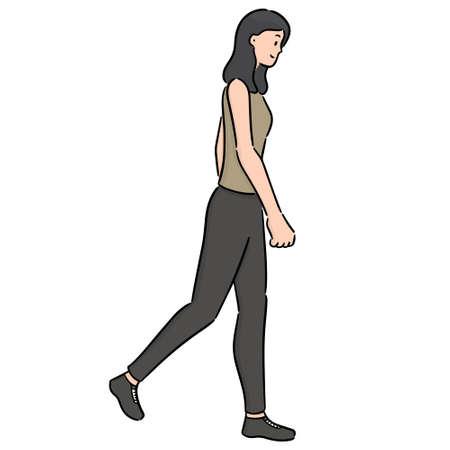 Ilustración de vector of woman walking - Imagen libre de derechos