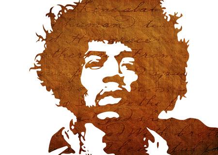 Photo for Jimi Hendrix Watercolor portrait - Royalty Free Image