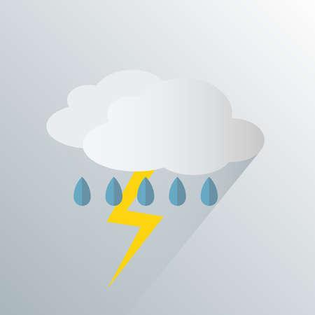 Illustration pour simple thunderstorm weather icon symbol vector illustration - image libre de droit