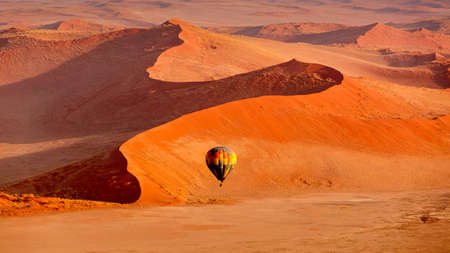 Photo for In Flight by Hot Air Balloon Sossusvlei - Royalty Free Image