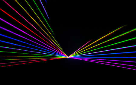 Foto per Colorful Laser effect over a plain black background. - Immagine Royalty Free