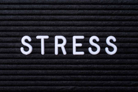 Photo for The word STRESS, spelt on a letter board. - Royalty Free Image