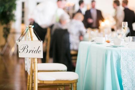 Photo pour Bride sign at a wedding reception - image libre de droit