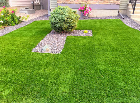 Photo for A beautiful artificial lawn - Royalty Free Image