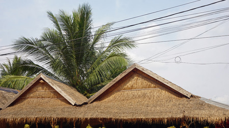 Foto de simple wooden houses in otres village in cambodia - Imagen libre de derechos