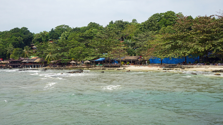 Foto de tropical beach serendipity in sihanoukville in cambodia - Imagen libre de derechos