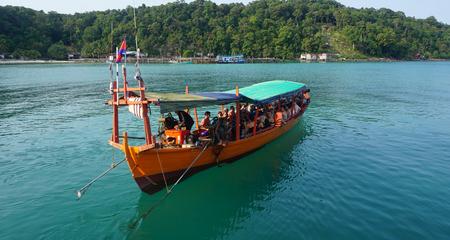 Foto de exotic tropical bay of koh rong samloem in cambodia - Imagen libre de derechos